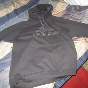 Adidas hoodie sweatshirt longsleeve black sport xl